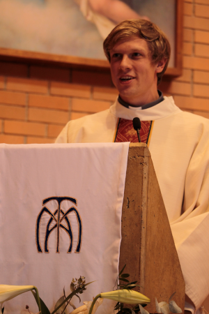 D. Jeff after his diaconate ordination